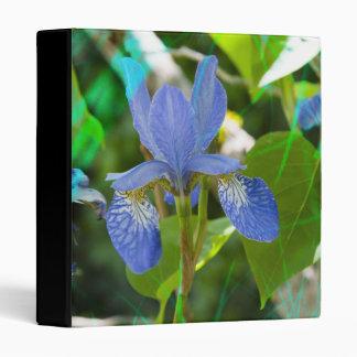 Elegant Blue Irises Pretty Summer Garden Photo Binder
