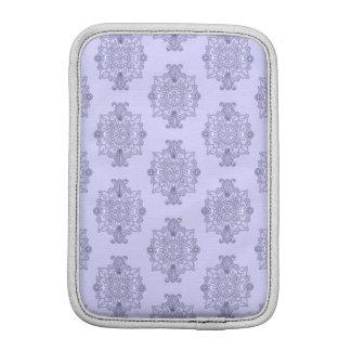 Elegant Blue Large Medallion Pattern iPad Mini Sleeves