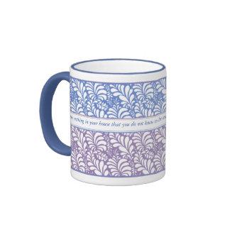 Elegant Blue & Lavender Favorite Quotation Mug