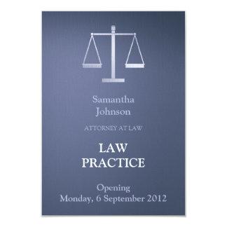 Elegant Blue Law Practice Opening Announcement