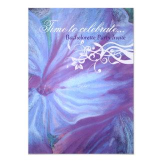 Elegant blue lilacs floral bachelorette invites