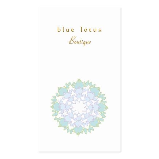 Elegant Blue Lotus Flower Simple Business Card