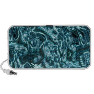Elegant blue metal water ripples notebook speakers