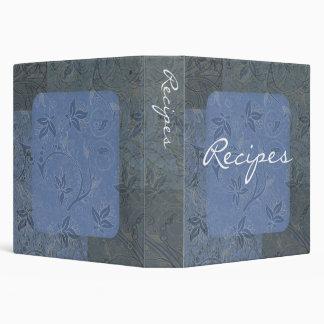 Elegant Blue Recipe Binder