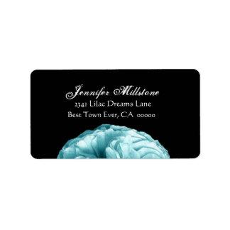 Elegant BLUE Rose Wedding Label