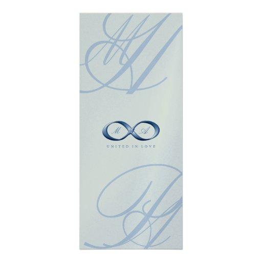Elegant Blue Sapphire Infinity Hand Clasp Wedding Personalized Invitations
