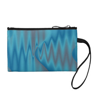 elegant blue satin texture design coin purse