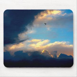Elegant Blue Sky Creamy Clouds Mouse Pad