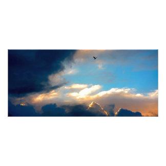 Elegant Blue Sky Creamy Clouds Rack Card Design