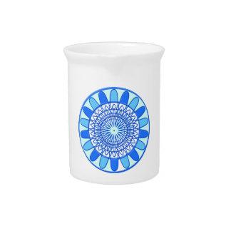 Elegant Blue Sparkle Jewel Design Drink Pitchers
