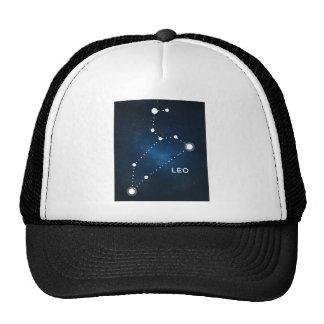ELEGANT BLUE STARRY WATERCOLOR UNIVERSE - LEO TRUCKER HAT