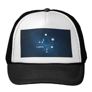 ELEGANT BLUE STARRY WATERCOLOR UNIVERSE - LIBRA TRUCKER HAT