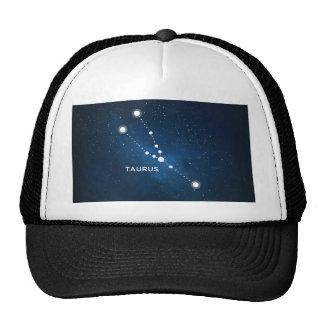 ELEGANT BLUE STARRY WATERCOLOR UNIVERSE - TAURUS TRUCKER HAT