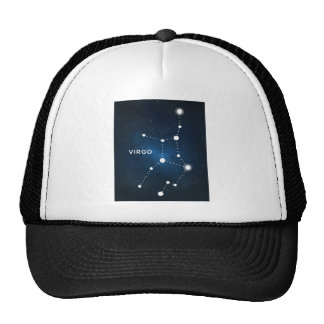 ELEGANT BLUE STARRY WATERCOLOR UNIVERSE - VIRGO TRUCKER HAT