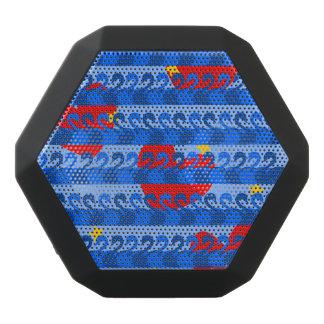 Elegant Blue Swans Red Hearts Yellow Stars Pattern Black Bluetooth Speaker