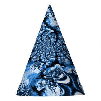 Elegant Blue Swirls Geometric Party Hat