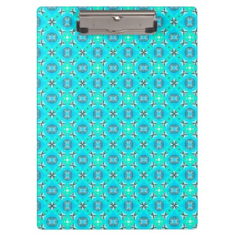 Elegant Blue Teal Abstract Modern Foliage Clipboard