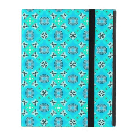Elegant Blue Teal Abstract Modern Foliage iPad Folio Case