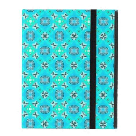 Elegant Blue Teal Abstract Modern Foliage iPad Folio Case