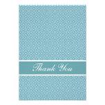 Elegant blue thank you card custom invite