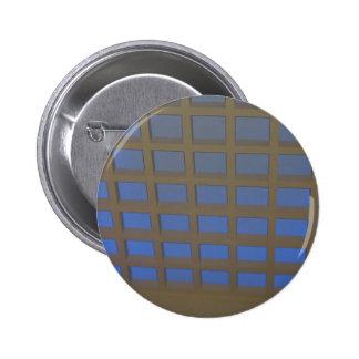 Elegant Blue Tilted Window Pane Graphic Art GIFTS 2 Inch Round Button