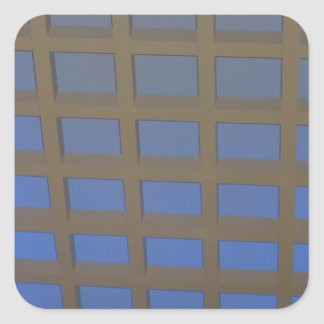 Elegant Blue Tilted Window Pane Graphic Art GIFTS Sticker