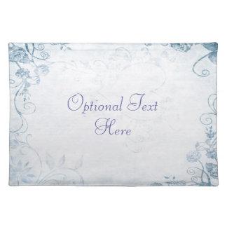 Elegant Blue Vintage Cloth Placemat