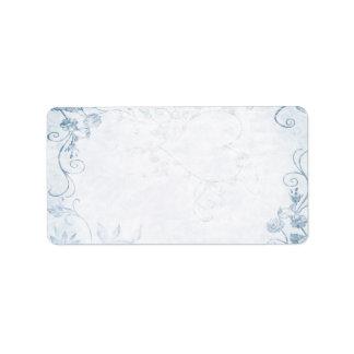 Elegant Blue Vintage Wedding Label