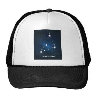 ELEGANT BLUE WATERCOLOR UNIVERSE - CAPRICORN TRUCKER HAT