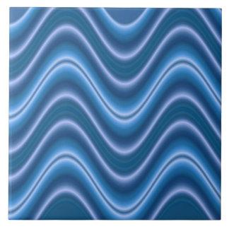 elegant blue wave abstract tile