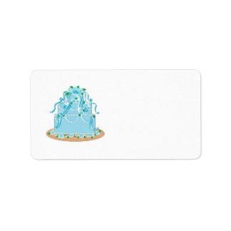 Elegant Blue Wedding Cake Personalized Address Label