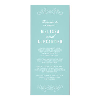 Elegant Blue Wedding Program