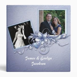 Elegant Blue Wedding Scrapbook Binder