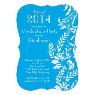 Elegant Blue White Class of 2014 Graduation Party Announcements