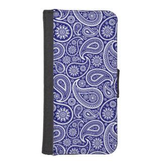 Elegant Blue & White Vintage Paisley Patter iPhone SE/5/5s Wallet