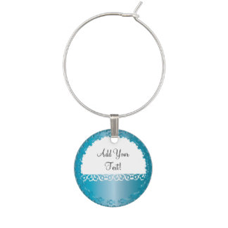 Elegant Blue Zircon All Occasion, You Personalize Wine Glass Charm