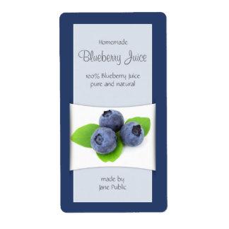 Elegant Blueberry Juice Label Shipping Label