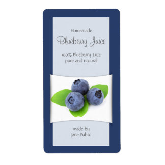 Elegant Blueberry Juice or Jam Label