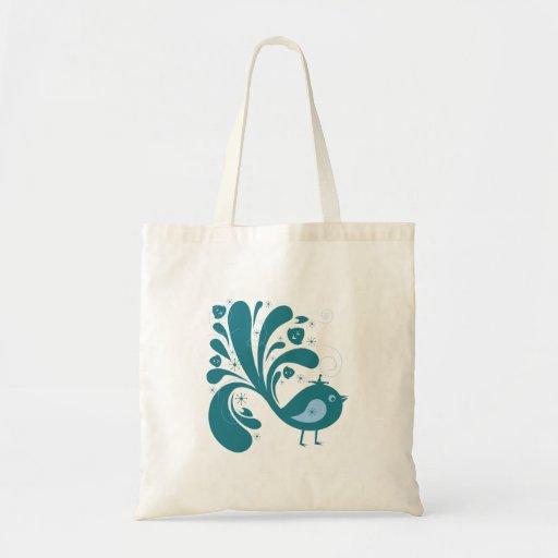 elegant bluebird canvas bag