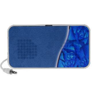 Elegant bluish texture mini speakers