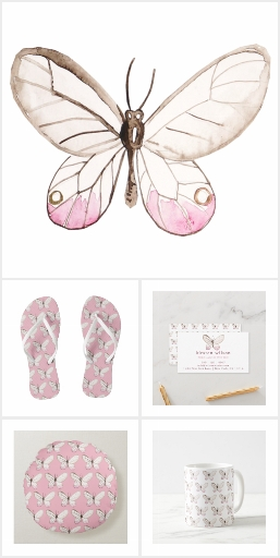Elegant Blush Butterfly Collection