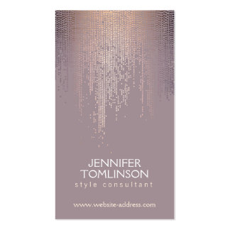 Elegant Blush Confetti Dots on Mauve Double-Sided Standard Business Cards (Pack Of 100)