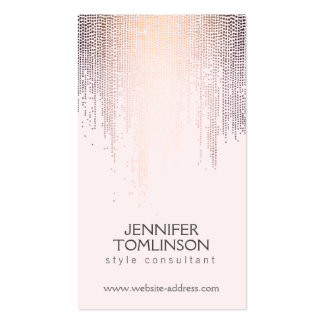 Elegant Blush Confetti Dots on Pastel Pink Double-Sided Standard Business Cards (Pack Of 100)