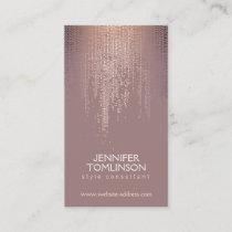 Elegant Blush Confetti Rain Pattern Business Card