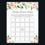 "Elegant Blush Pink Floral Bridal Shower Bingo Game Flyer<br><div class=""desc"">Customize this ""Elegant Blush Pink Floral Bridal Shower Bingo Game Flyer"" to perfectly match your colors and theme. For further customization,  please click the ""customize further"" link and use our design tool to modify this template. If you need help or matching items,  please contact me.</div>"
