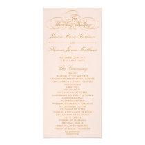Elegant Blush Pink & Gold Wedding Program Template