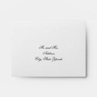 Elegant  Blush Pink Interior Wedding RSVP Envelope