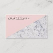 Elegant Blush Pink Marble Professional Pattern Business Card
