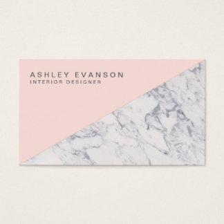 Elegant Blush Pink Marble Professional Pattern Business Card