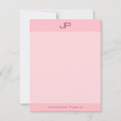 Elegant Blush Pink Monogram Simple Modern Template